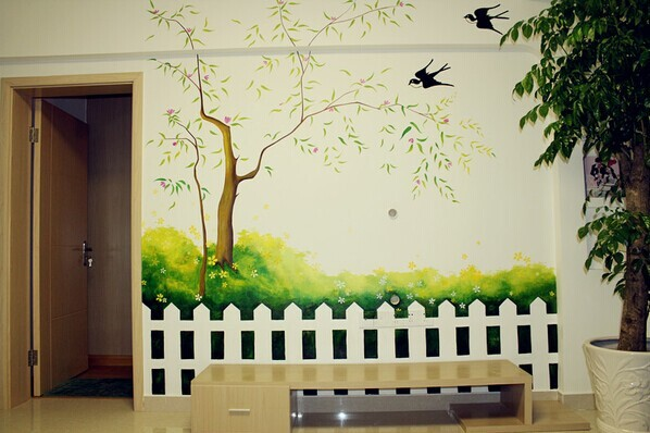 萍乡手绘公司,萍乡新农村建设墙体彩绘,萍乡墙体喷绘广告公司
