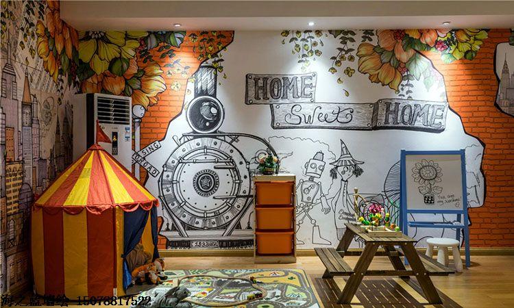 萍乡喷绘墙面,萍乡墙面喷绘,萍乡涂鸦壁画,萍乡幼儿园彩绘墙画