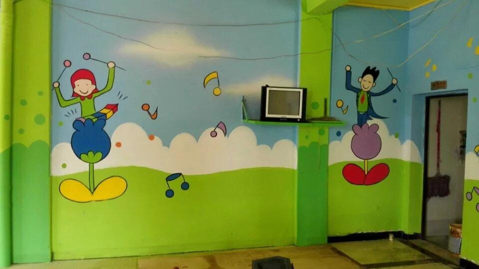 萍乡喷绘墙体广告公司,萍乡室内手绘,萍乡幼儿园彩绘墙