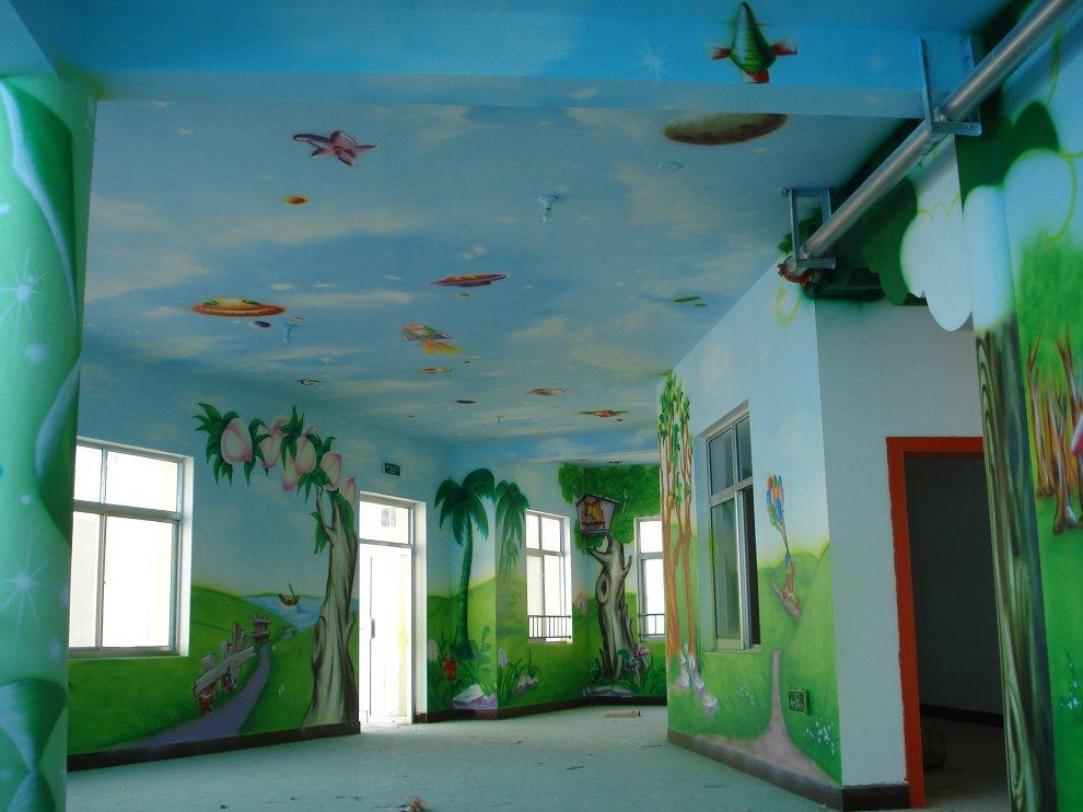 萍乡手绘装饰画,萍乡涂鸦墙绘,萍乡古建彩绘,萍乡幼儿园手绘墙画